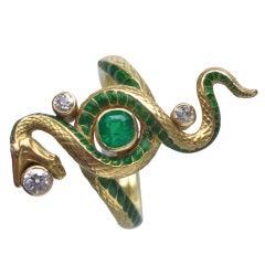PAUL BRIANCON Art Nouveau Snake Ring