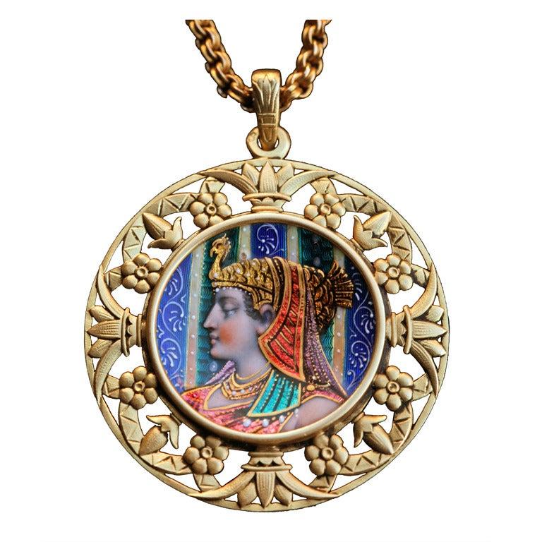 Egyptian Revival Cleopatra Pendant
