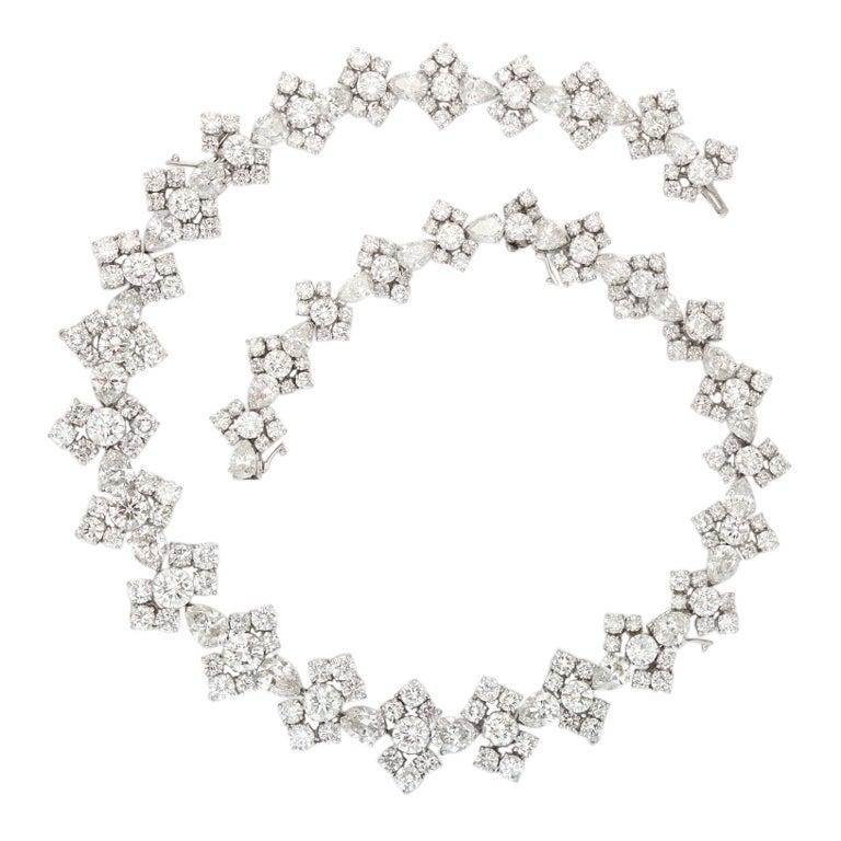 Harry Winston Diamond Necklace Bracelet Combination At