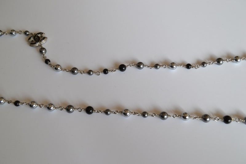 Chanel necklace Sautoir Pearls image 7