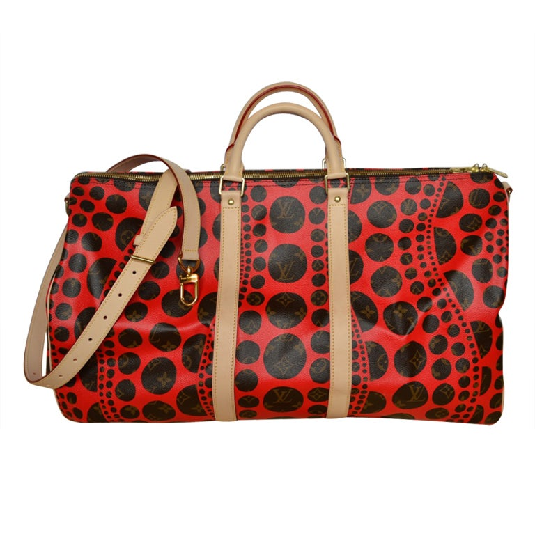 Louis Vuitton Keepall 55 Yayoi Kusama Red Dots At 1stdibs