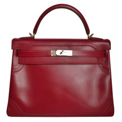 Hermes Kelly 32 Ghillies Rubis