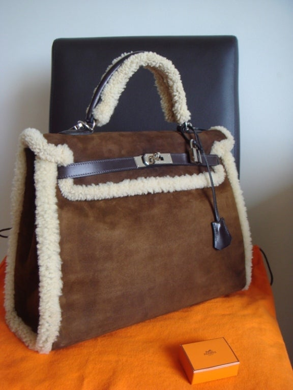 Exceptional Hermes Kelly 35 Teddy Plush at 1stdibs