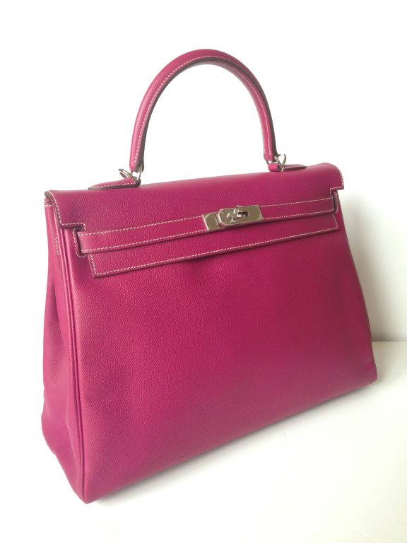 Hermes Kelly 35 Candy Tosca Epsom at 1stdibs