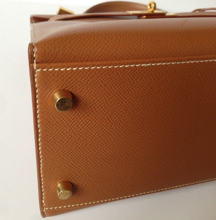 Herm��s Kelly 32 sellier Epsom Gold ghdw at 1stdibs