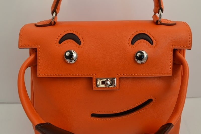 h purse - Hermes Kelly Idole (Kelly Doll) Gulliver Orange For Sale at 1stdibs