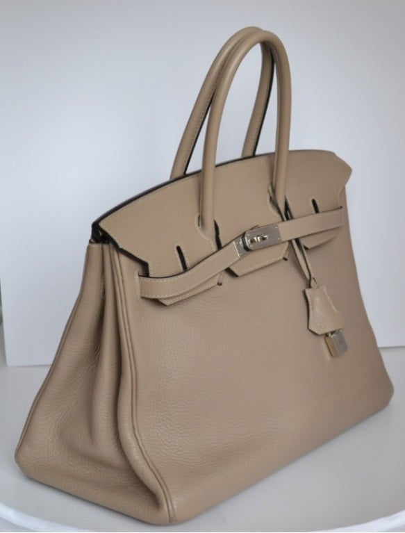 hermes birkin bag 35 gris tourterelle togo leather gold hardware