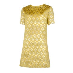 Brocade Shift Dress / YSL-1089