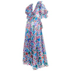2pc. Comic Print Gown / YSL-1090
