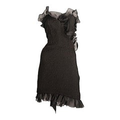 Black cocktail dress / YSL-1096