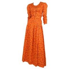 Floral Print Maxi Dress / YSL-1112