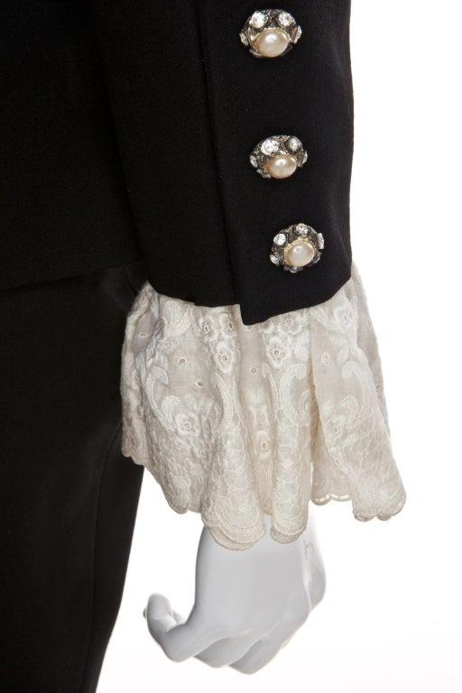 80s Jean Patou by Christian Lacroix Haute Couture Elegant Black Suit 4