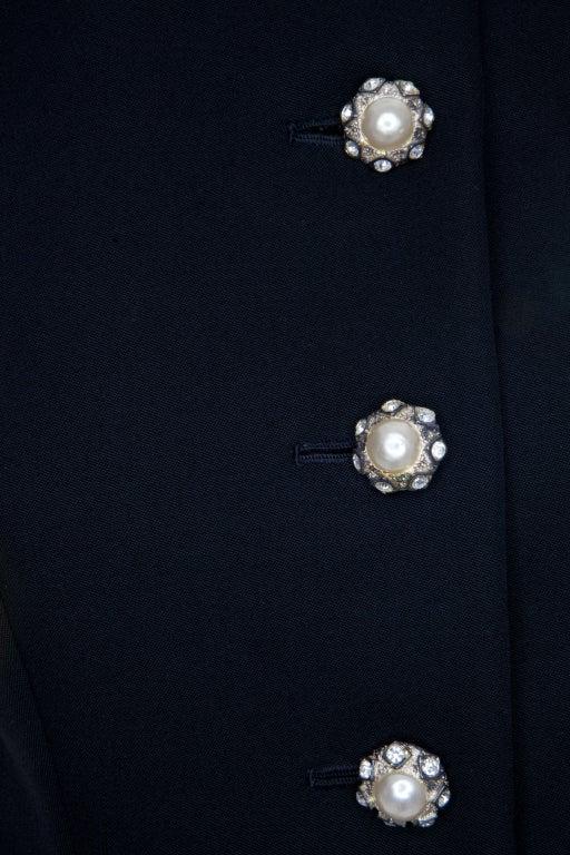 80s Jean Patou by Christian Lacroix Haute Couture Elegant Black Suit 5