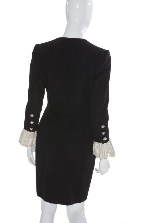 80s Jean Patou by Christian Lacroix Haute Couture Elegant Black Suit 6