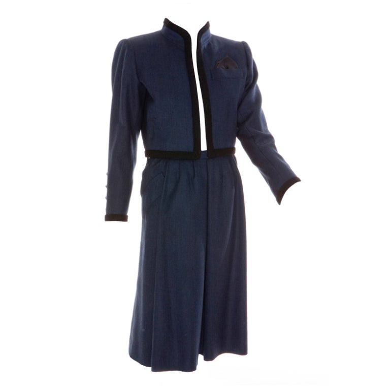 Yves saint laurent late 80s haute couture skirt suits at for Haute couture suits