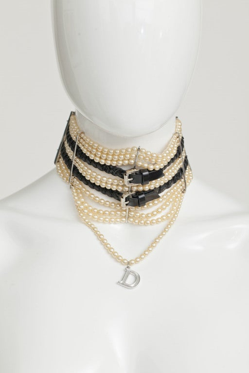 JOHN GALLIANO FOR CHRISTIAN DIOR MASSAI FAUX PEARLS NECKLACE image 2