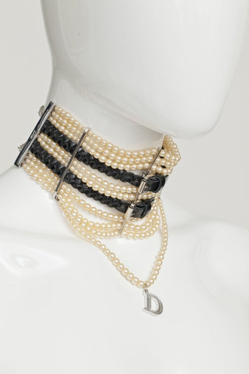 JOHN GALLIANO FOR CHRISTIAN DIOR MASSAI FAUX PEARLS NECKLACE image 3