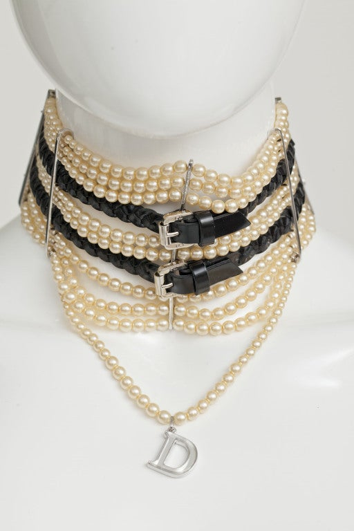 JOHN GALLIANO FOR CHRISTIAN DIOR MASSAI FAUX PEARLS NECKLACE image 6