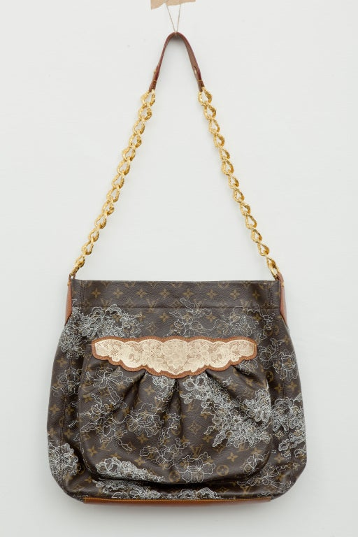 Louis Vuitton Spring 2007 Monogram Silver Metallic Lace Bag 2