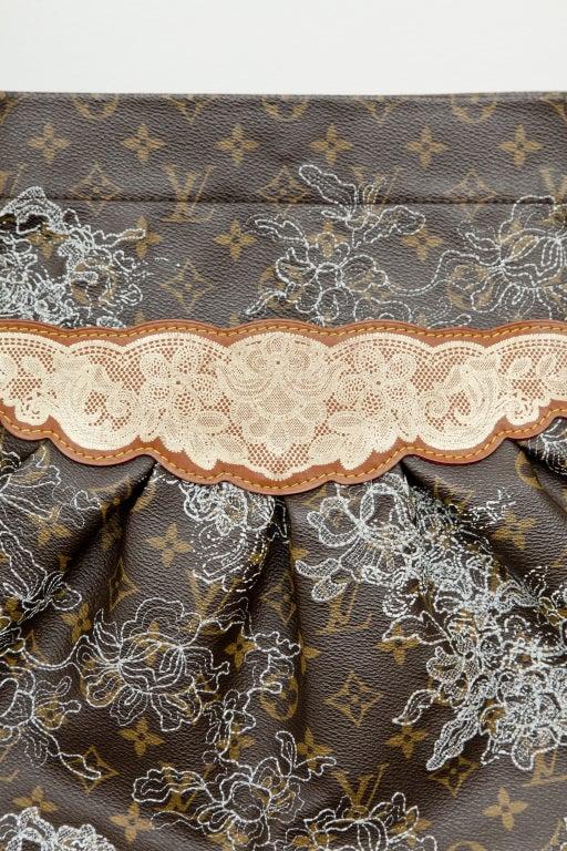 Louis Vuitton Spring 2007 Monogram Silver Metallic Lace Bag 3