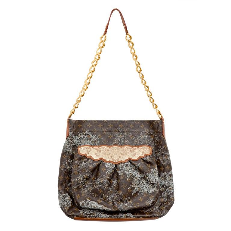 Louis Vuitton Spring 2007 Monogram Silver Metallic Lace Bag 1