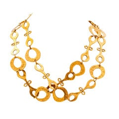 Gold Plated Nomadic Tribal Necklace