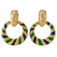 Vintage Jomaz Doorknocker Earrings