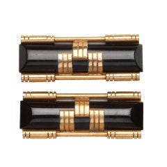 A Fabulous Pair of Art Deco Brooches by Jakob Bengel