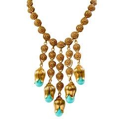 Stunning Victorian Revival Festoon Necklace