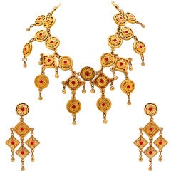 Claire Deve Geometric Necklace with Matching Earrings