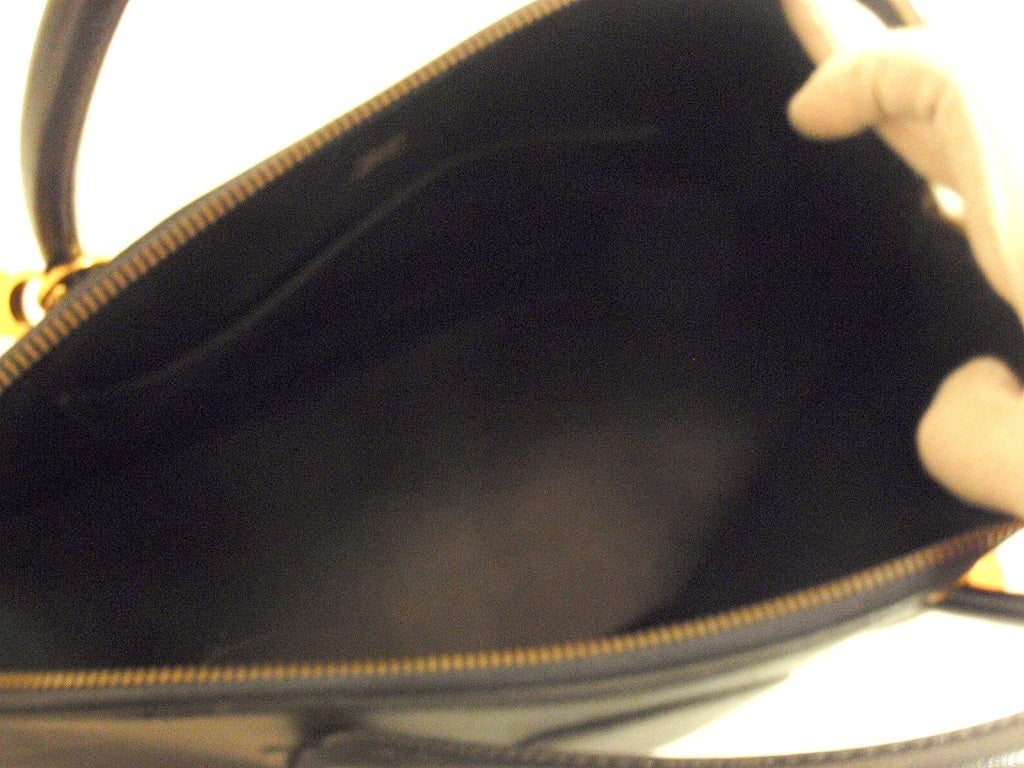 Hermès 34cm Black Leather Gold Hardware Bolide Macpherson Bag 5