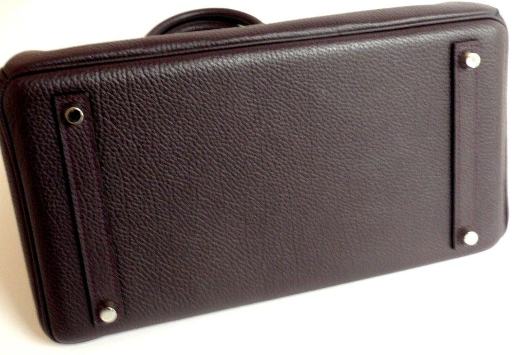 Hermès Birkin 30cm Handbag in Raisin Clemence Leather 5