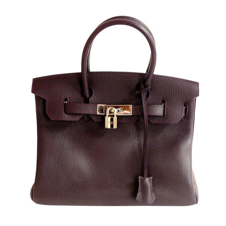 Hermès Birkin 30cm Handbag in Raisin Clemence Leather 1