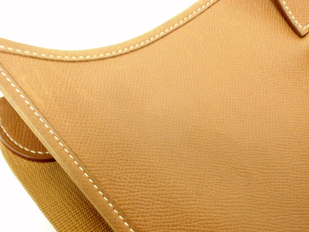 HERMES Evelyne GM Gold Epsom Leather Shoulder Bag For Sale at 1stdibs