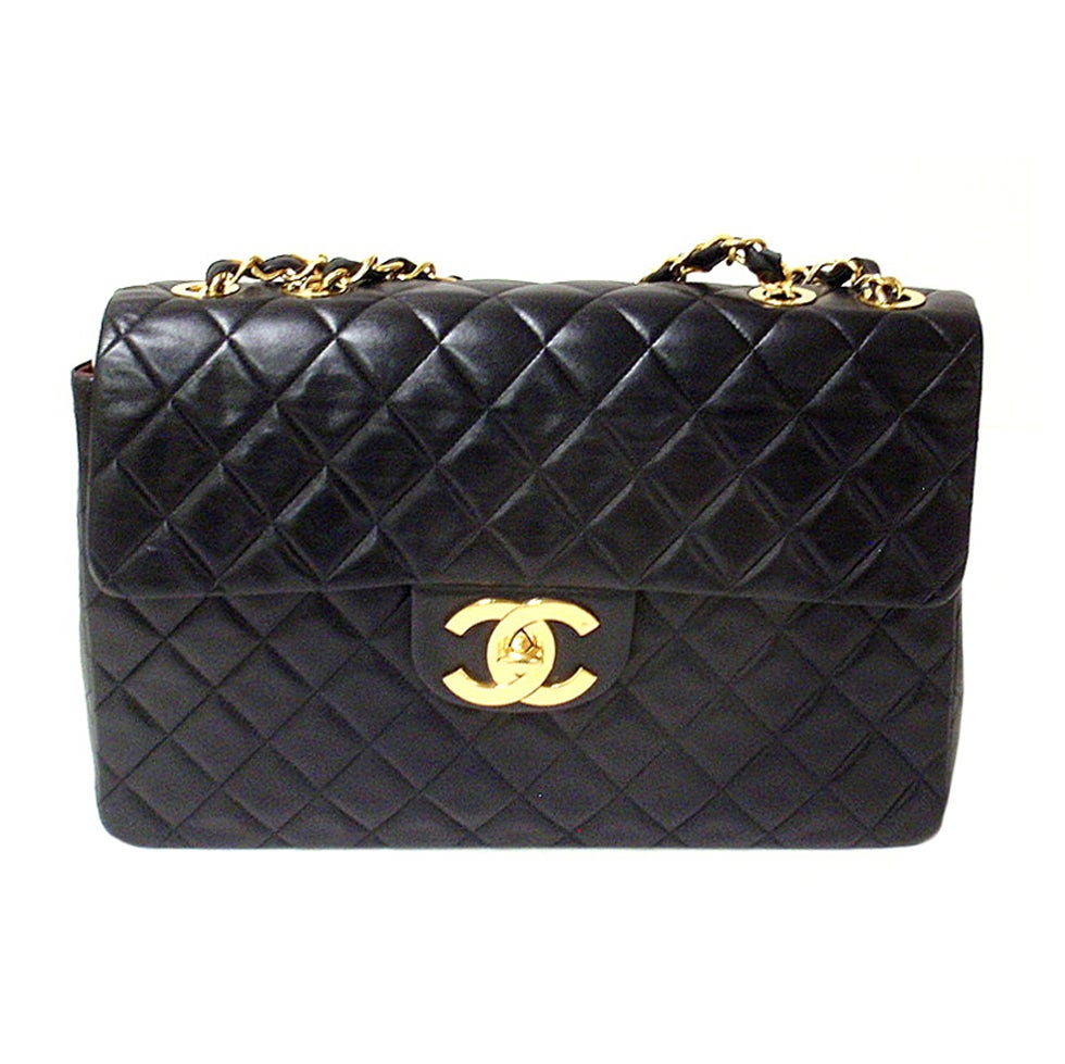 chanel xl jumbo maxi 34cm flap handbag at 1stdibs. Black Bedroom Furniture Sets. Home Design Ideas