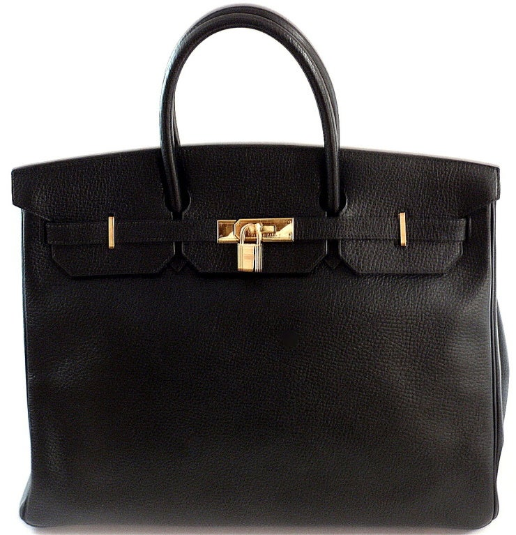 HERMES Birkin 40cm Black Togo Leather Handbag from 2002 image 4
