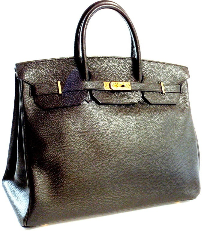 HERMES Birkin 40cm Black Togo Leather Handbag from 2002 image 5