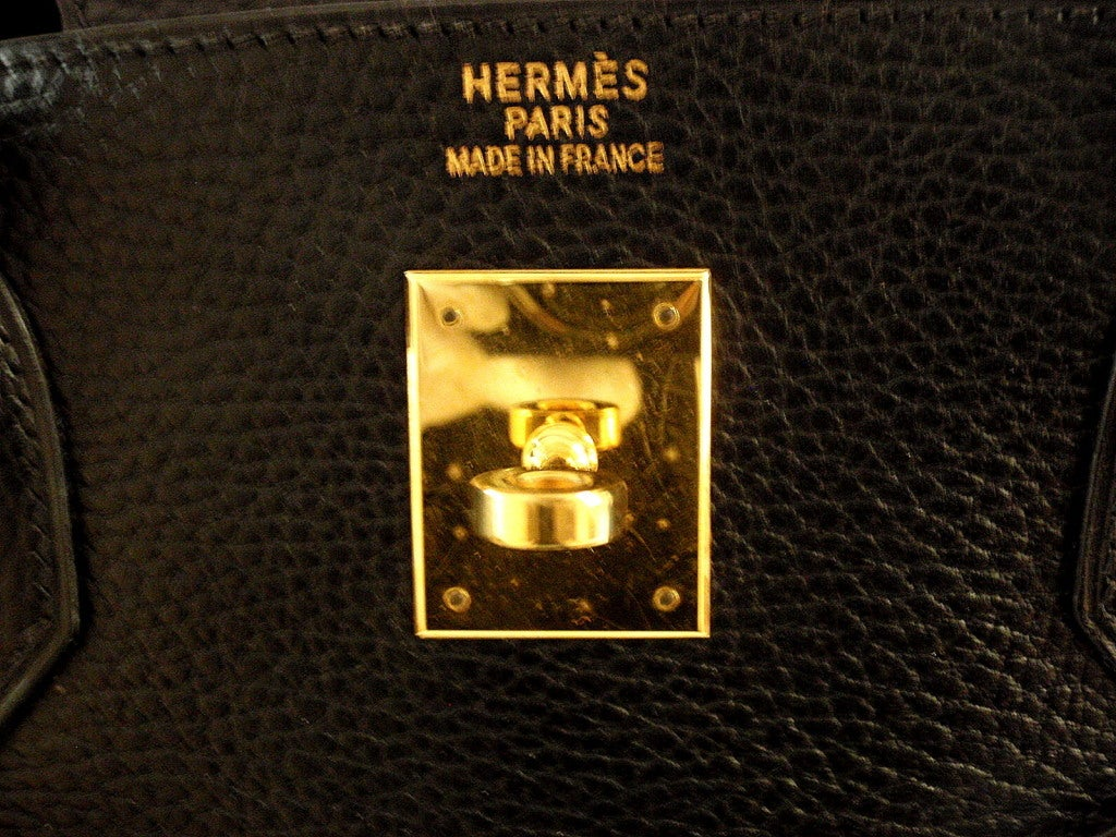 HERMES Birkin 40cm Black Togo Leather Handbag from 2002 image 7