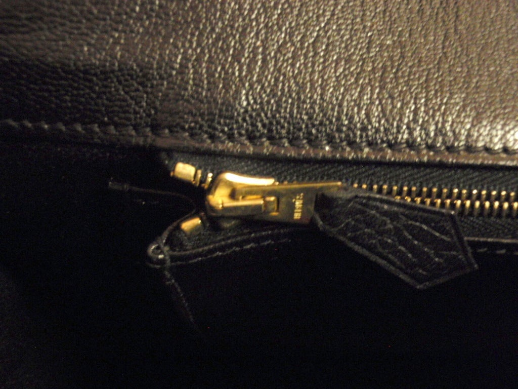 Hermes 35cm Black Ardennes Birkin Handbag, Year 2002 For Sale 3