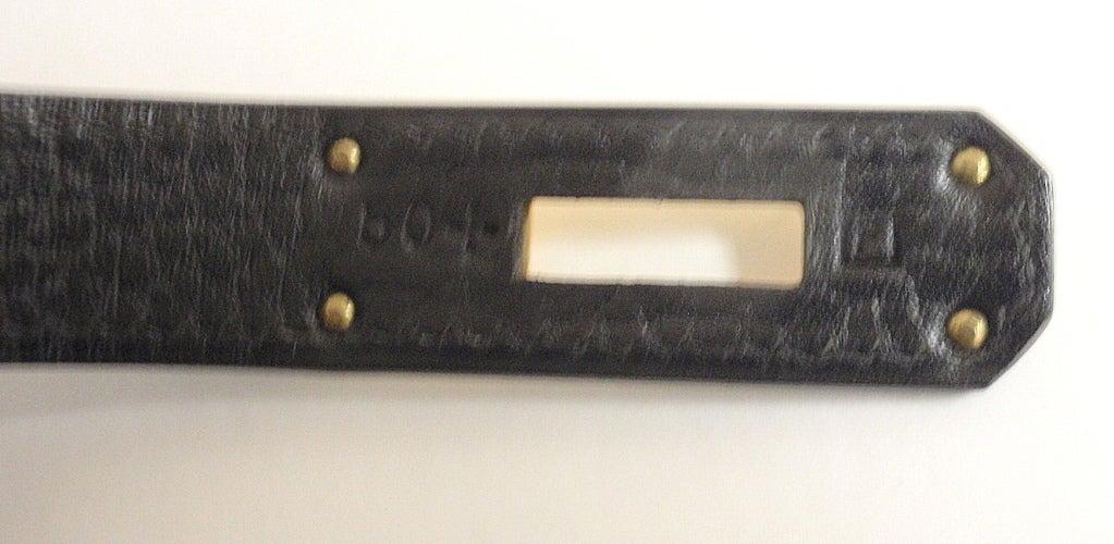 Hermes 35cm Black Ardennes Birkin Handbag, Year 2002 For Sale 4