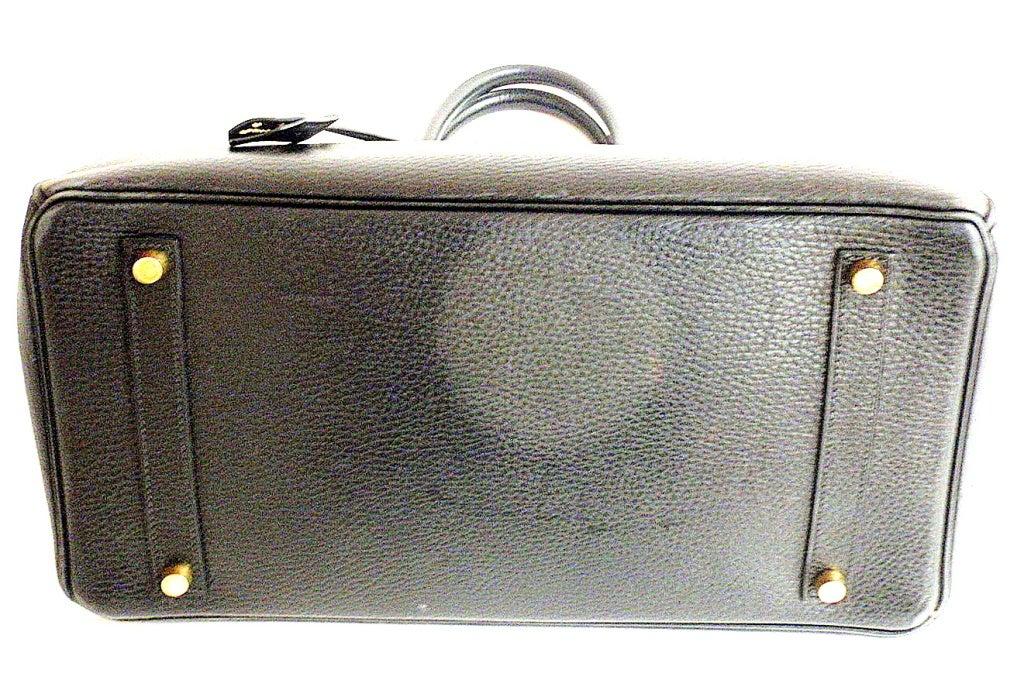 Hermes 35cm Black Ardennes Birkin Handbag, Year 2002 For Sale 5
