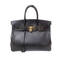 Hermes 35cm Black Ardennes Birkin Handbag, Year 2002