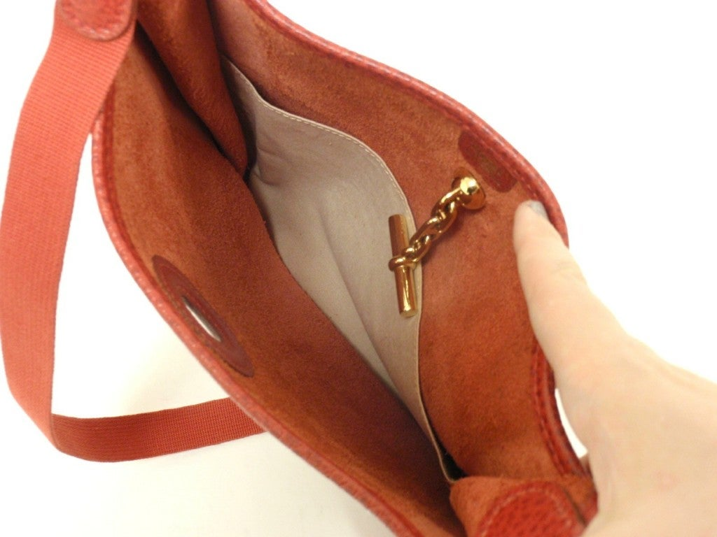 HERMES Vespa PM Red Vache Liegee Leather Shoulder Bag For Sale 1