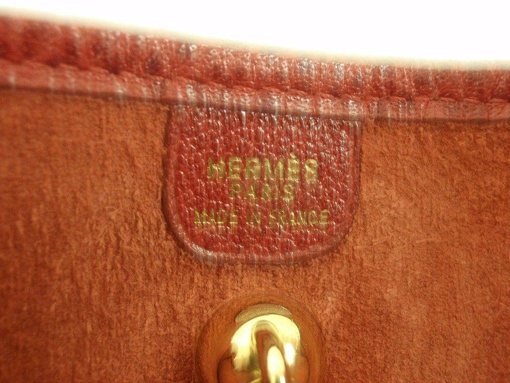 HERMES Vespa PM Red Vache Liegee Leather Shoulder Bag For Sale 4