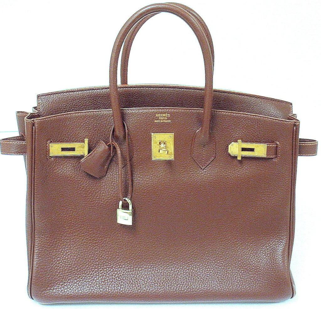471cd57223bd ... coupon code for womens hermes 35cm brown clemence birkin handbag year  1997 for sale 7f2fa 37e84 ...