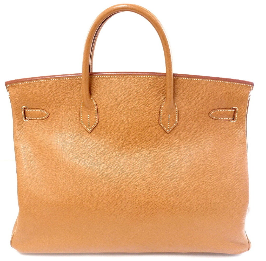 HERMES Birkin 40cm Gold Courchevel Leather Handbag from 1999 2