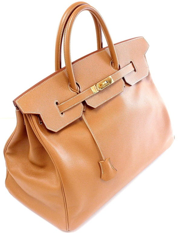 HERMES Birkin 40cm Gold Courchevel Leather Handbag from 1999 3