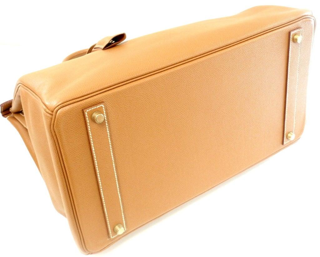 HERMES Birkin 40cm Gold Courchevel Leather Handbag from 1999 4