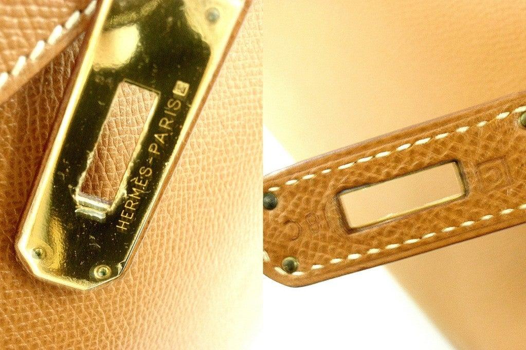 HERMES Birkin 40cm Gold Courchevel Leather Handbag from 1999 6
