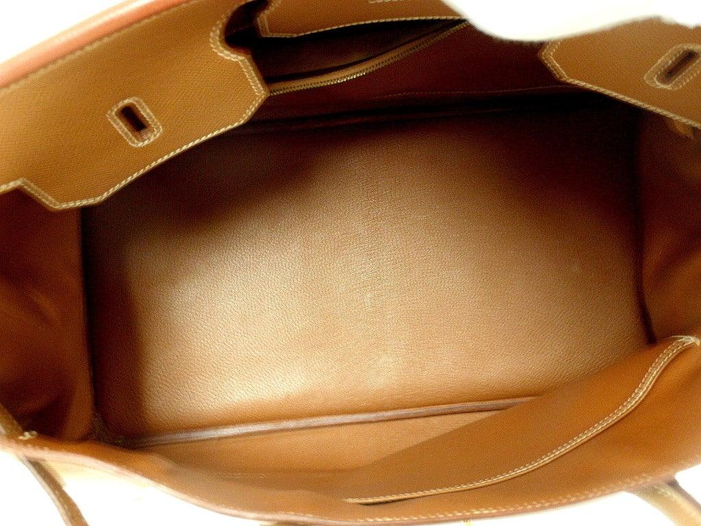 HERMES Birkin 40cm Gold Courchevel Leather Handbag from 1999 7
